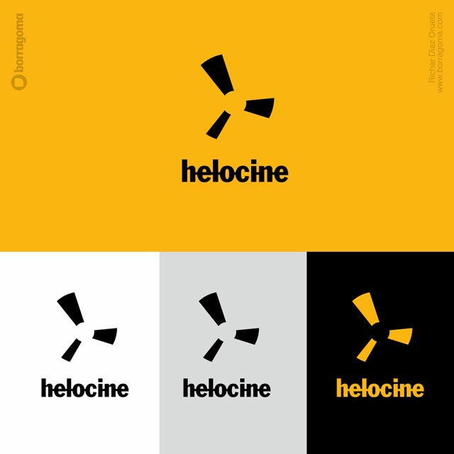DIS HeloCINE logo 02 Helocine / Imagen Corporativa Logotipo Imagen Corporativa Diseño Gráfico