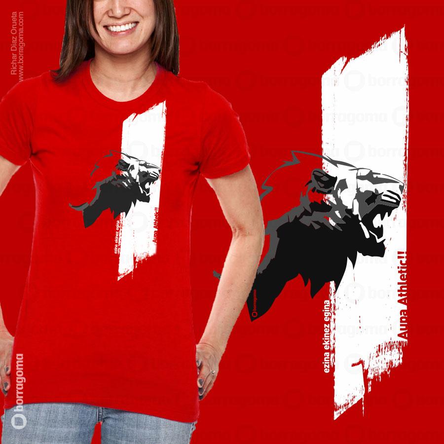 DIS2 Athletic Cami900 FRONT Athletic Tour Europeo 2012 / Camiseta Conmemorativa T Shirts Ilustración en Bilbao Diseño de camisetas Camisetas Athletic de Bilbao