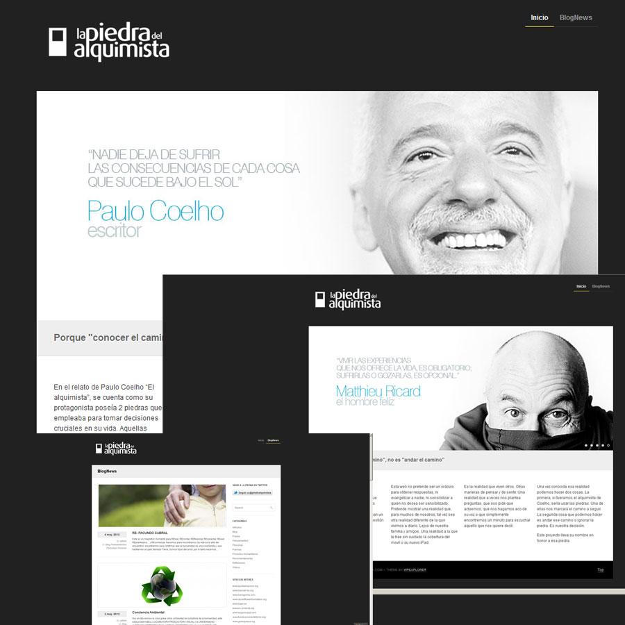DIS PiedraAlquimista Blog 00 La piedra del Alquimista / Logotipo y Blog Trabajos Realizados Logotipo Imagen Corporativa Diseño Gráfico Blog