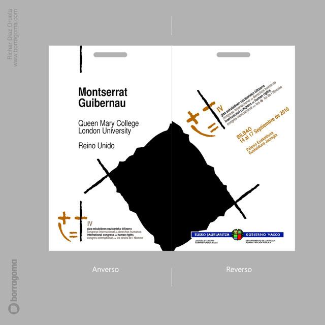 DIS DerechosHumanos Txartelak 05 IV Congreso Internacional de Derechos Humanos (2010) / Imagen Gráfica del Evento Trabajos Realizados Logotipo Imagen Corporativa Diseño Gráfico concurso