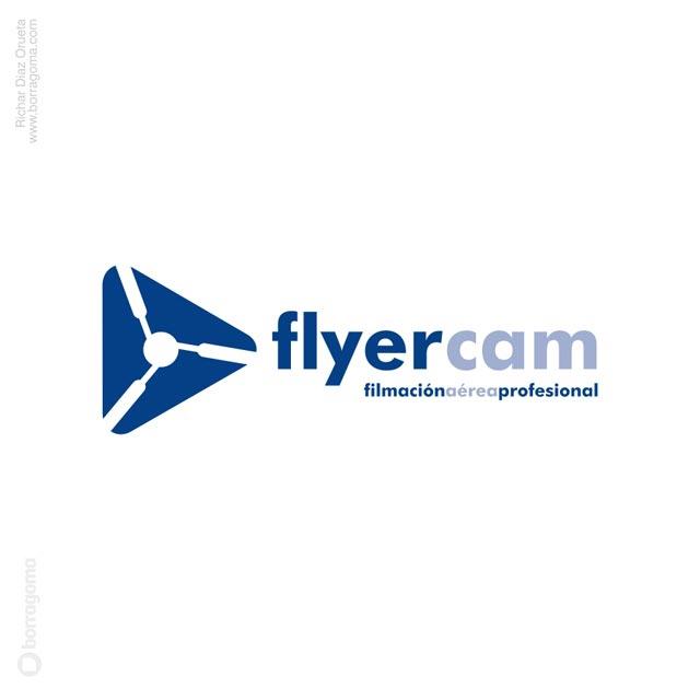 DIS FlyerCAM logo 01 FlyerCam / Imagen Corporativa Trabajos Realizados Logotipo Imagen Corporativa Filmación Aérea Diseño Gráfico