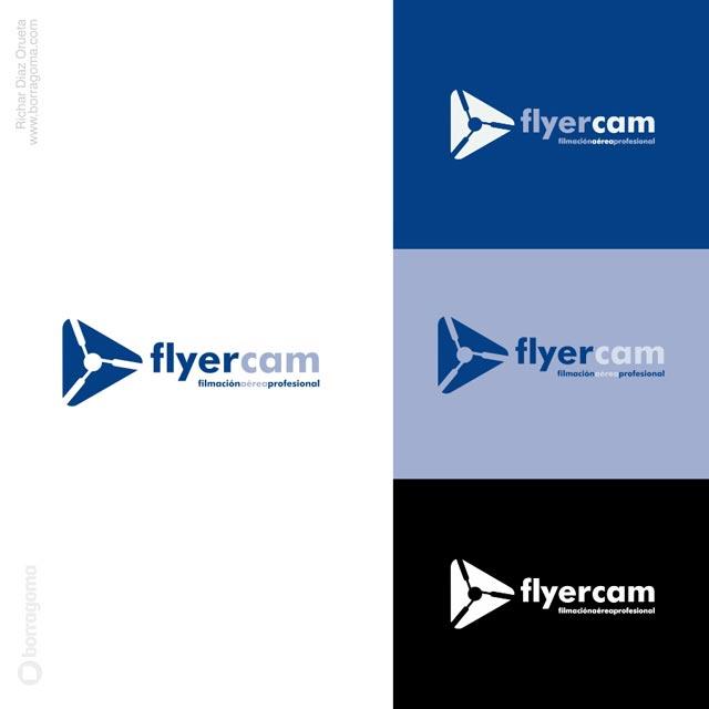 DIS FlyerCAM logo 03 FlyerCam / Imagen Corporativa Trabajos Realizados Logotipo Imagen Corporativa Filmación Aérea Diseño Gráfico