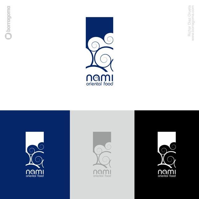 DIS Nami logo 03 Nami Cocina virtual / Imagen Corporativa Trabajos Realizados Logotipo Imagen Corporativa Diseño Gráfico